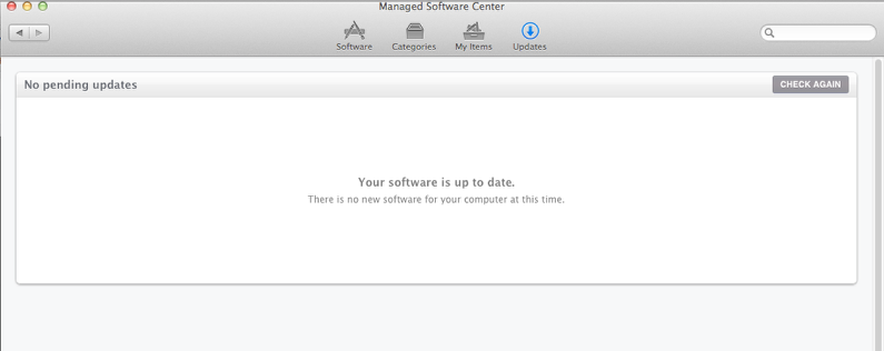 Your Software is Up to Date
