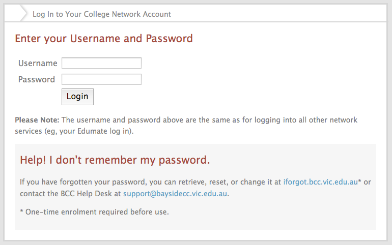 Login Using Your Network Account