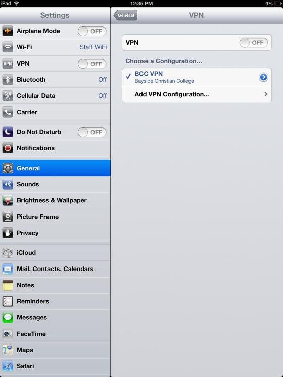 Configure the BCC VPN