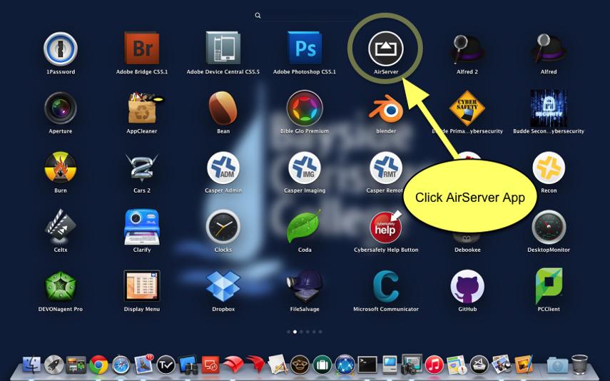 Launch AirServer App