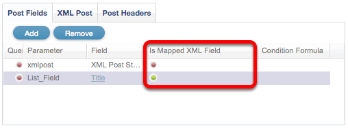 Is Mapped XML Field
