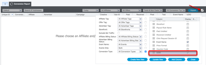 Click and Conversion Reports