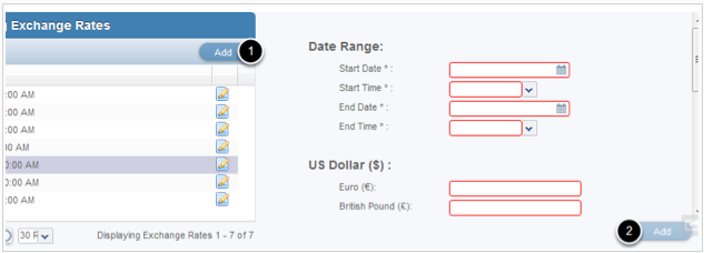 How To Add A New Exchange Rate