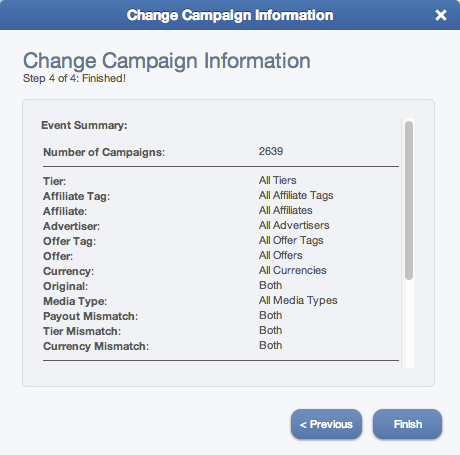 Edit Multiple Campaigns (Step 4)