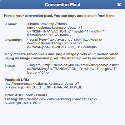 Get Conversion Pixel