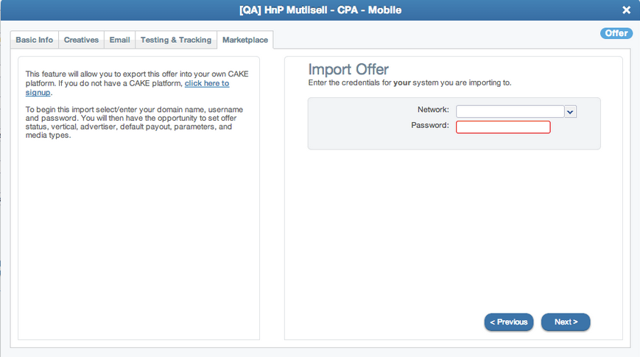 Where to access the Import Offers tool (Affiliate Portal)