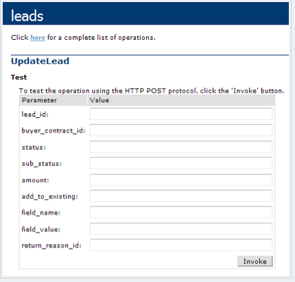 Update Lead API, Continued
