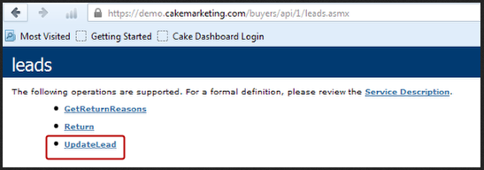 Update Lead API https://#mycakeinstance.com#/buyers/api/1/leads.asmx