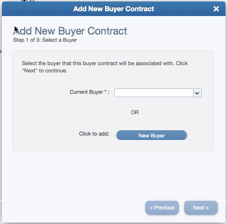 Add New Buyer Contract Wizard