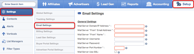 Where to find your global email address settings