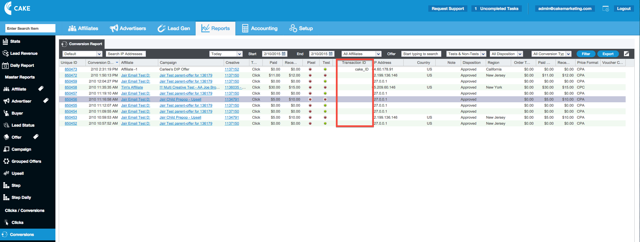 Filter and export the CRM report