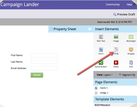 Marketo Hosted Landing Pages