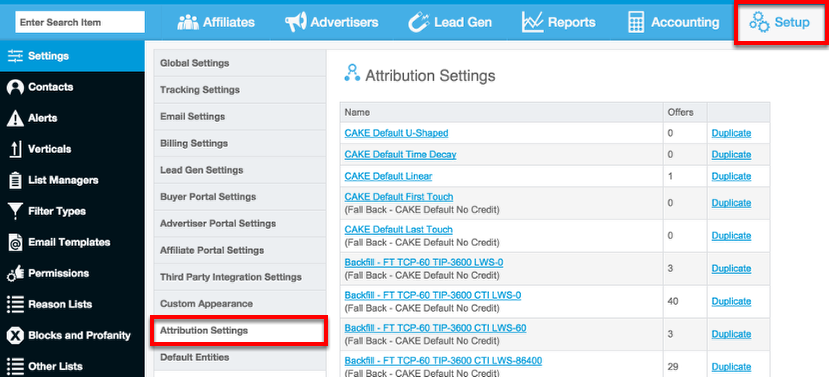 Where do I set up Attribution Models?