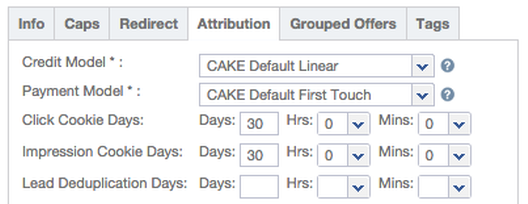 Offer Attribution Settings