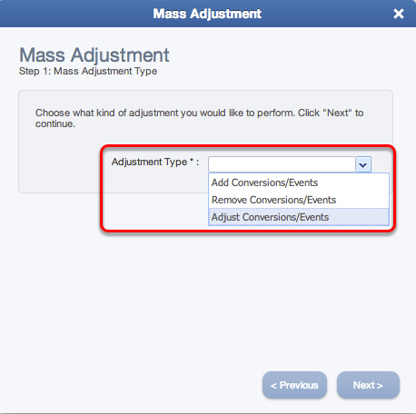 Mass Adjustment Type