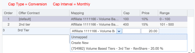 Unmapping Volume Based Tiers within a Campaign