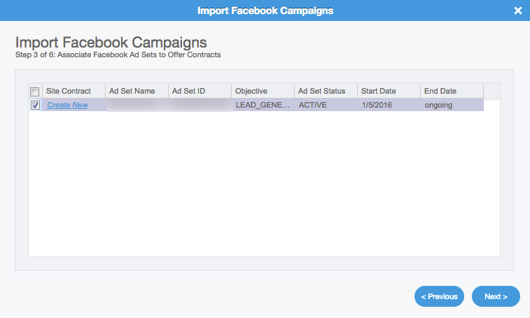 Facebook Lead Ads Campaign Importer: Step 3