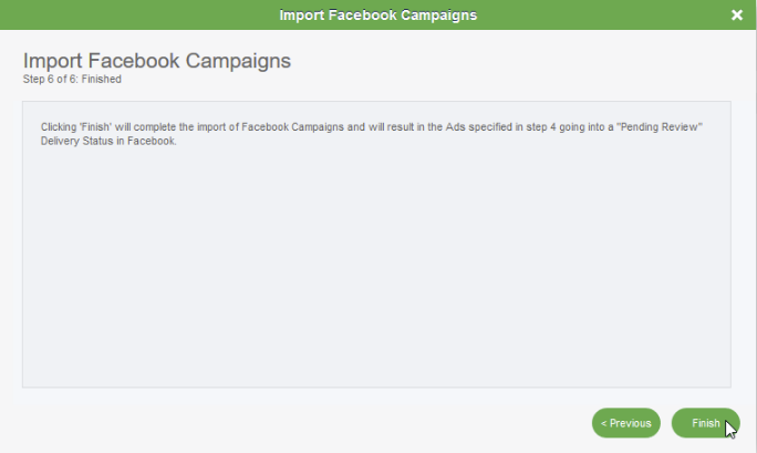 Facebook Lead Ads Campaign Importer: Step 6