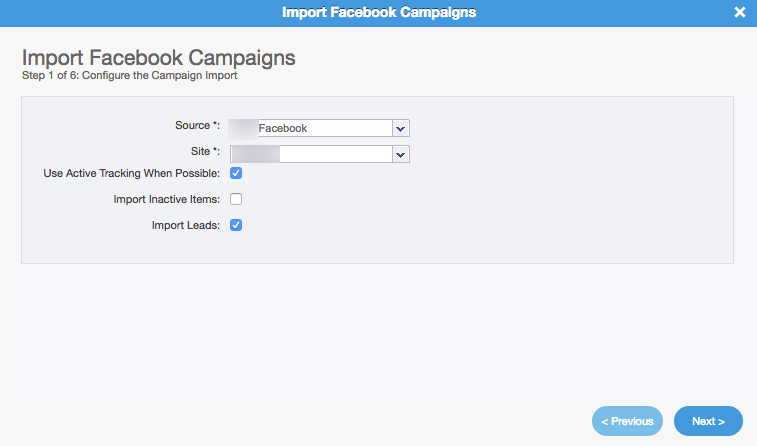 Facebook Lead Ads Campaign Importer: Step 1