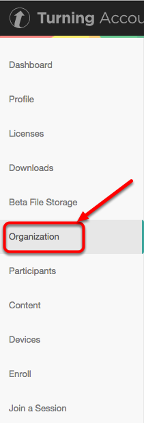 2. Open the Organization Page