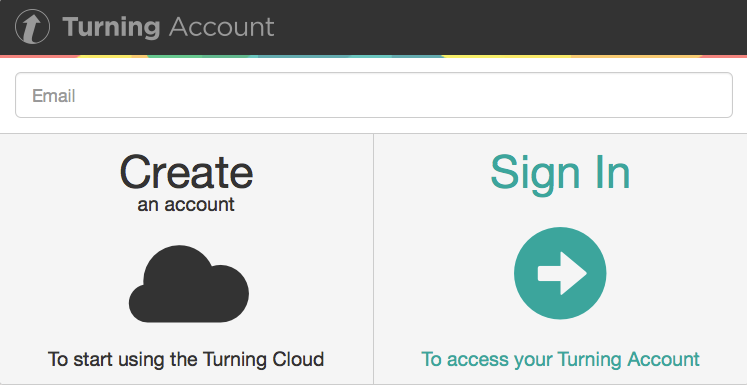 1. Log Into the Turning Account Website