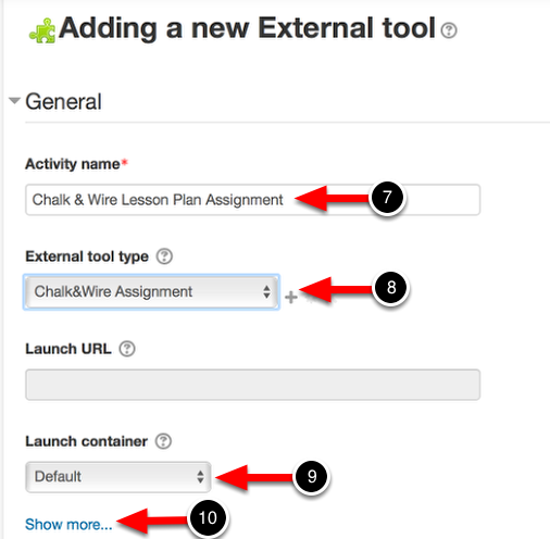 Step 3: Enter External Tool Information