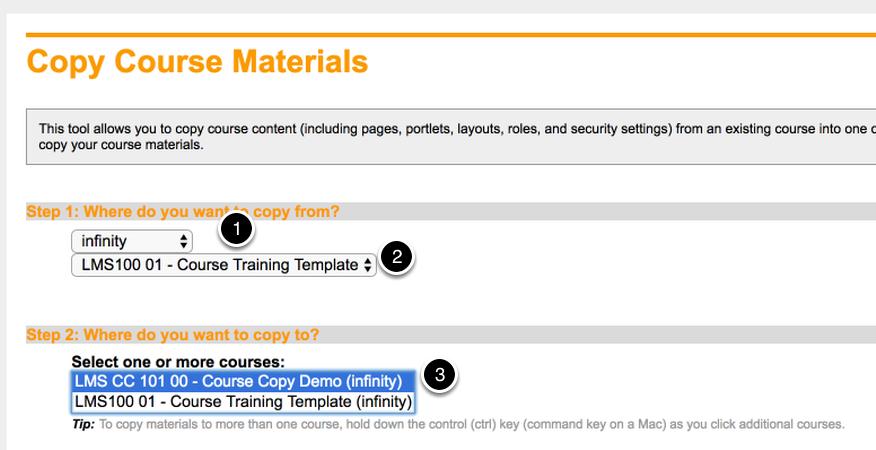 Copy Course Materials