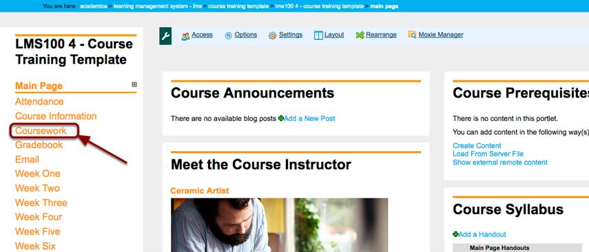 Course - Main Page | myCIA