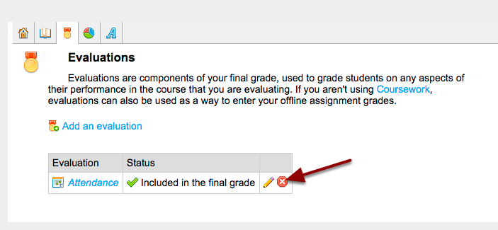 Course Section - Gradebook | Evaluations