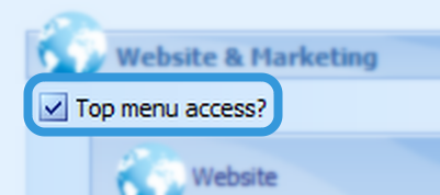 Top Menu Access?