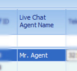 Live Chat Agent Name
