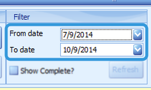 Selecting a Date Range to Display