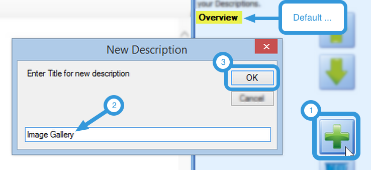 Adding a New Description