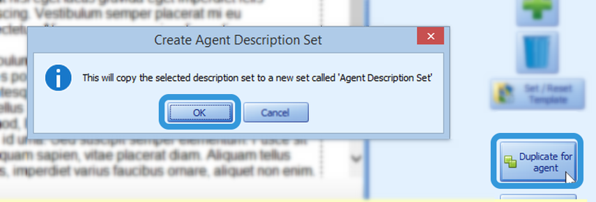 Duplicate for Agent