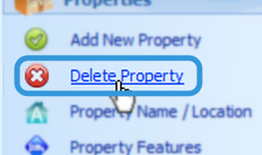 Deleting the Property