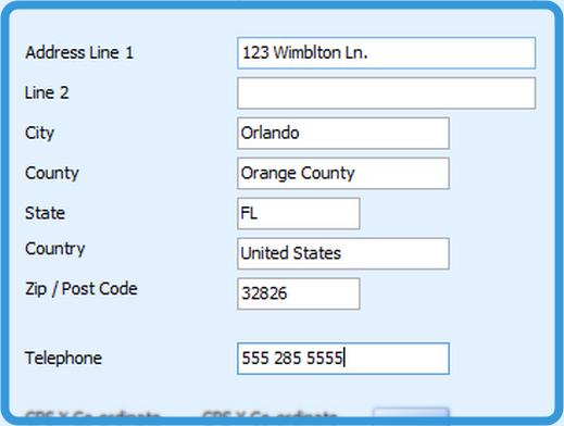 Property Address / Telephone