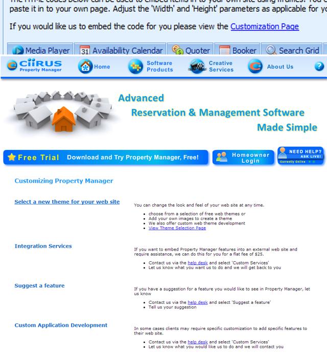CiiRUS Website Customization Services
