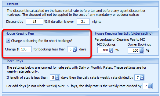 House Keeping Fee