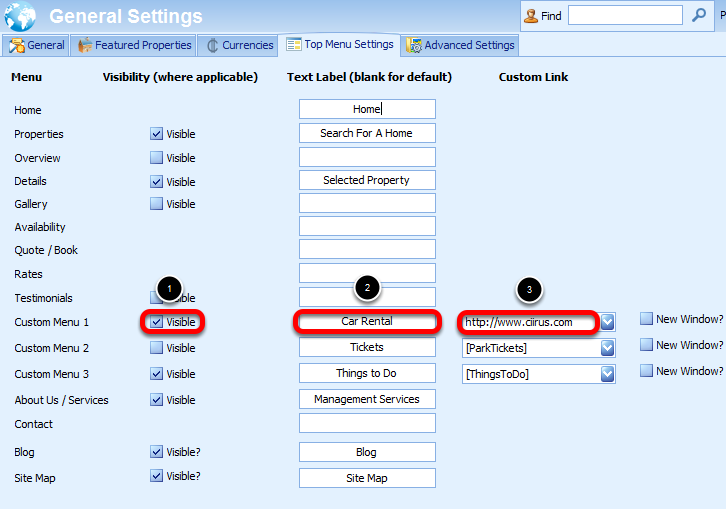 Linking to an external web site