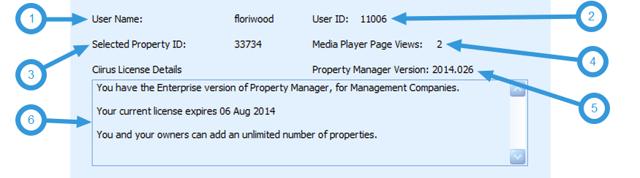 CiiRUS Version and licensing Information