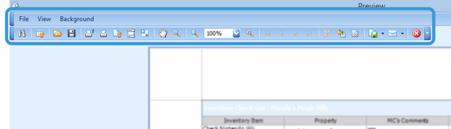 The Print Preview Tool Bar.