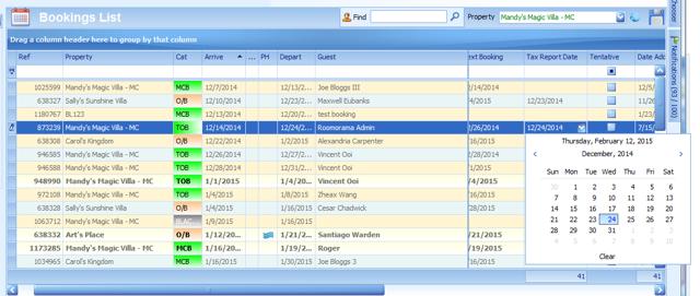 Set Custom Report Dates (Bookings List)