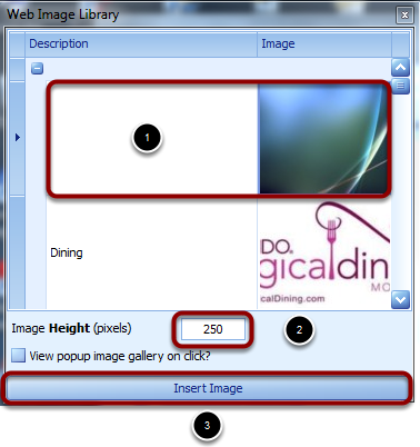 To Insert an Image to your Web Page