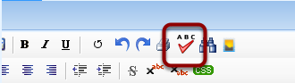 Spell Check Button