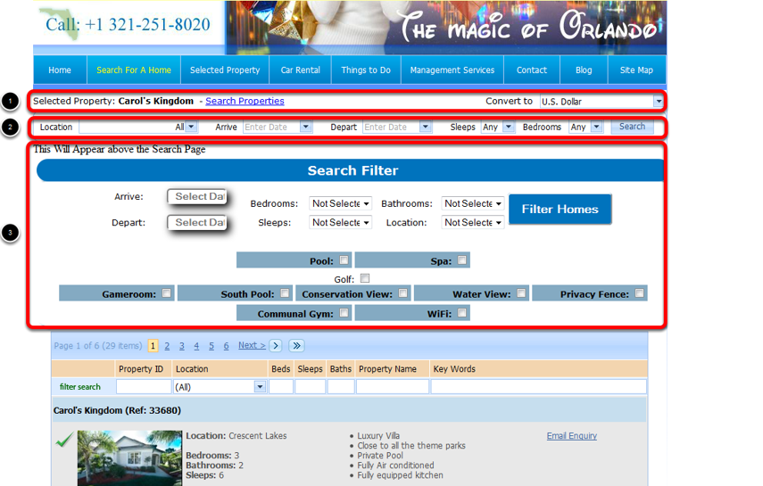 Search For a Home Page Web Page