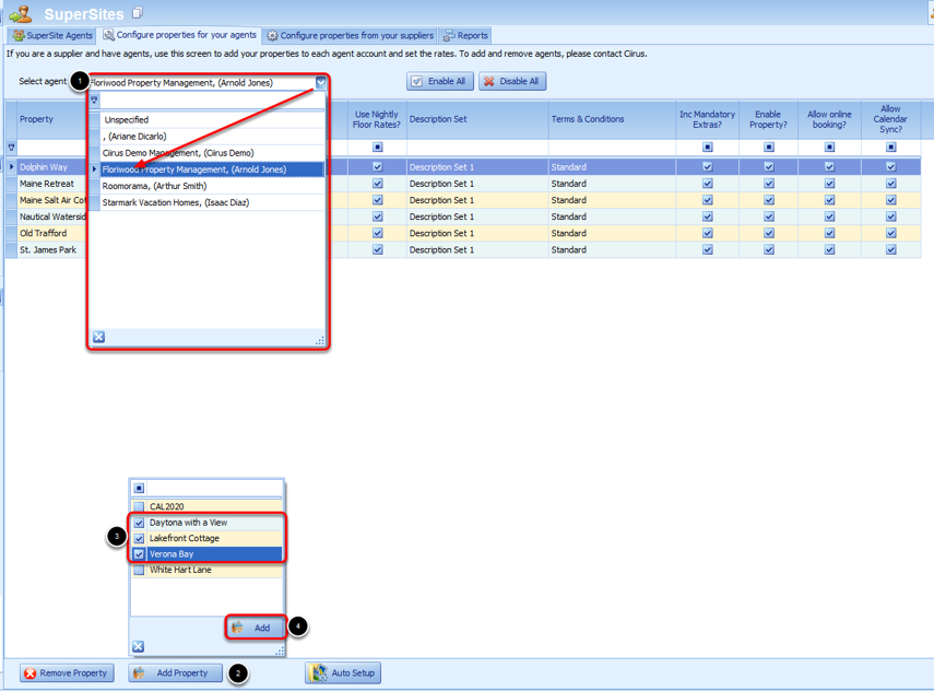 Configure Properties for your Agents