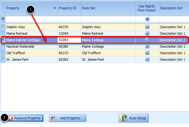 Removing a Property from the list