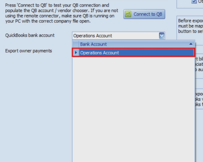 QuickBooks Bank Account