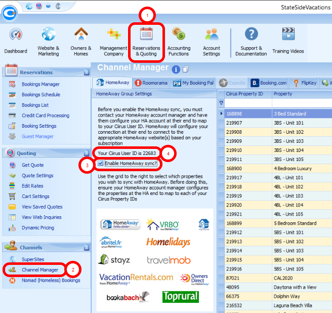 Steps on How to Sync and List your Properties on HomeAway