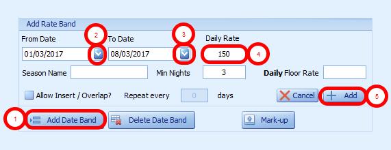 Add Date Band